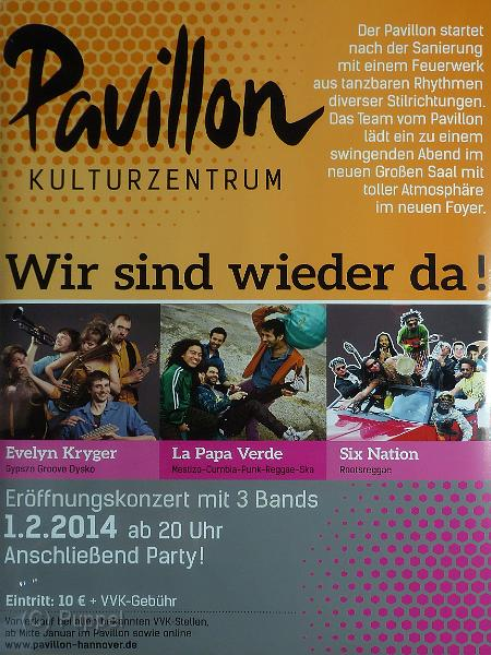 2014/20140201 Pavillon Eroeffnung  Evelyn Kryger La Papa Verde Six Nation/index.html